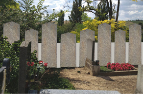 Epitaphienwand Friedhof Bad Pirawarth